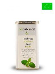 Aceite de Oliva Infusionado con Albahaca - Ecológico - Lata 250ml - Olicatessen - Els Torms - Lleida