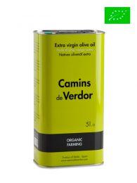 Aceite de Oliva Virgen Extra - Ecológico - Lata de 5 litros - Camins de Verdor