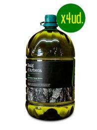 Pack Aceite de Oliva Virgen Extra de Arbequina - 4 x Garrafa 5l - Oli d'Arbeca - Arbeca - Lleida