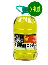 Aceite de Oliva Virgen Extra de Arbequina - 4 x Garrafa 5l - Or del Terme