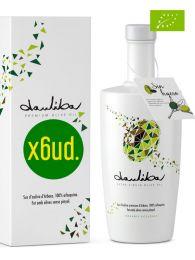 Aceite de Oliva Virgen Extra de Arbequina sin hueso - Botella de 500ml con estuche x 6 - Dauliba - Arbeca - Lleida