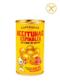 Aceitunas rellenas de anchoa - Lata 1420grs. - Espinaler