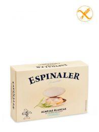 Almejas Blancas Premium de las Rías - Al natural - Empacadas a mano - Lata (20-25) - Espinaler