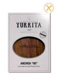 Anchoas del Cantábrico medida 00 en aceite de oliva - Bandeja de 100grs - Yurrita Gastronomika