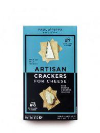 Crackers Artesanos - Sal Ahumada y Pimienta Rosa con Quinoa - Caja 150grs. - Paul and Pippa - Barcelona