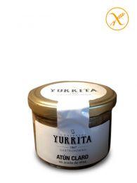 Atún claro en aceite de oliva - Bote de vidrio 225grs - Yurrita Gastronomika