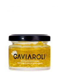 Caviar de Aceite con Albahaca - Esferas de Aceite de Oliva - Tarro de 50grs - Caviaroli