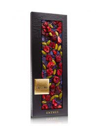 Chocolate Negro con Flores Violetas - Valrhona 65% - Tableta de 110grs. - ChocoMe