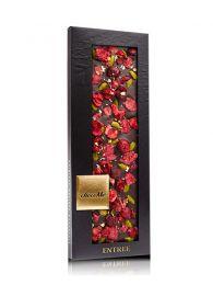 Chocolate Negro con Flores y Oro de 23 quilates - Valrhona 65% - Tableta de 110grs. - Choco Me