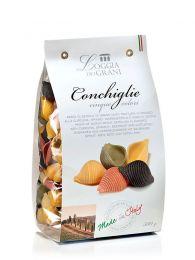 Conchiglie - 5 colores - Pasta Italiana - Envase 500grs - Loggia Dei Grani