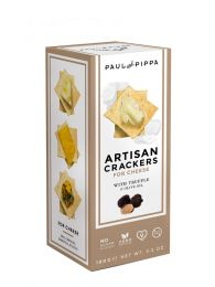 Crackers Artesanos - Trufa Blanca - Caja 100grs. - Paul and Pippa - Barcelona