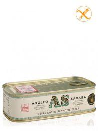 Espárragos de Navarra blancos - IGP Navarra - Lata 425ml. - (5) - Conservas Gourmet Adolfo Sádaba