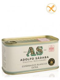 Espárragos de Navarra blancos - IGP Navarra - Lata 780grs. - (4/6) - Conservas Gourmet Adolfo Sádaba