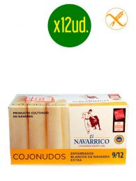 Espárragos de Navarra blancos (9/12) - Cojonudos - Lata 1Kg x 12ud. - El Navarrico