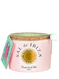Flor de Sal de Ibiza con pétalos de Rosa - Frasco de Cerámica de 125grs. - Sal de Ibiza