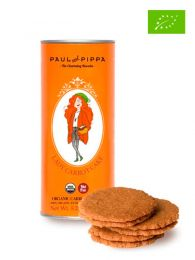 Galletas Ecológicas - Lady Carrot Cake - Sabor Zanahoria - Lata 150grs. - Paul and Pippa - Barcelona - Ecológico
