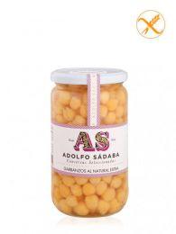 Garbanzos al Natural - Frasco 580ml - Conservas Gourmet Adolfo Sádaba - Navarra