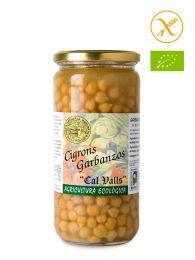 Garbanzos Cocidos Ecológicos - Cal Valls - Frasco de Vidrio 450grs.