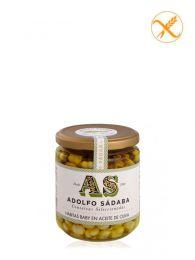 Habitas Baby en Aceite de Oliva - Frasco 445ml - Conservas Gourmet Adolfo Sádaba - Navarra