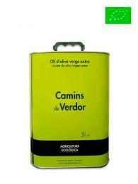 Aceite de Oliva Virgen Extra - Ecológico - Lata de 3 litros - Camins de Verdor - Belianes - Lleida