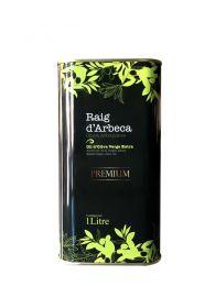 Aceite de Oliva Virgen Extra Premium Raig d'Arbeca en lata de 1 litro