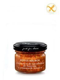 Mermelada de Higos negros con nueces de Macadamia de Australia y pimienta de Jamaica - Frasco 70grs. - Just for Cheese Can Bech