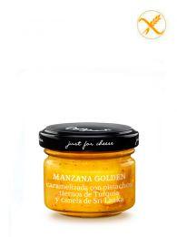 Mermelada de Manzana Golden caramelizada con pistachos tiernos de Turquía y canela de Sri Lanka - Frasco 70grs. - Just for Cheese Can Bech