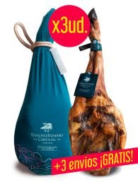 ¡Oferta! 3 Paletas de Bellota 100% Ibérica - Sánchez Romero Carvajal - 5/6Kgs. + ¡3 Envíos GRATIS!