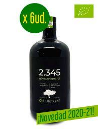 ¡Oferta!  Caja 2.345 - Aceite de Oliva Virgen Extra - Ecológico - Botella de 500ml. x 6ud. - Variedades Ancestrales - Olicatessen - Els Torms - Lleida