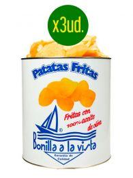 Patatas Fritas Bonilla, oferta en caja de 3 latas