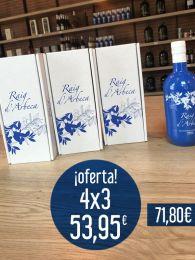 ¡OFERTA! 4x3 Aceite de Oliva Virgen Extra Premium de Arbequina - Ecológico - 3 Botellas de 500ml con estuche + 1 gratis - Oli Raig d'Arbeca - Lleida