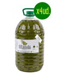 Caja Oferta 4 garrafas de 5 litros de OliCastelló Alsina