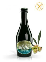 Cerveza Verde Artesana de Olivas - Sin Gluten - Botella de 33Cl. - Oliba