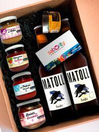 Pack Aperitivo de Ponent con Cerveza Artesana, Mermeladas y Caviar de AOVE