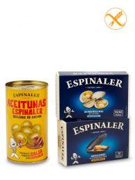 Pack Garbí Espinaler de - Berberechos - Mejillones - Aceitunas - Espinaler