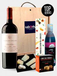 Pack Gourmet de Maridaje de Quesos, Mermeladas, Vino y Bloc de Foie Gras Natural