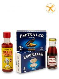 Pack Ponent Espinaler de - Vermouth - Almejas - Mejillones - Salsa aperitivo - Espinaler