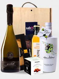 Pack de Navidad Ponent con Cava, Turrones, Aceite y Vinagre Premium de Lleida