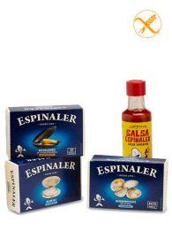 Pack Vermutet Espinaler de - Almejas - Mejillones - Berberechos - Salsa aperitivo - Espinaler
