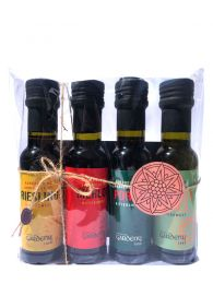 Pack Vinagres Agridulces de Merlot, Porto, Riesling y Miel de Naranjo - 4 Botellas de 100ml - Castell de Gardeny - Badia Vinagres