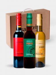 Pack Vinagres Agridulces Goumret de Merlot, Porto y Riesling - 3 Botellas de 375ml - Castell de Gardeny