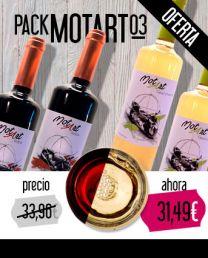 Pack MotArt de Vinos - Gewürztraminer 2015 x 2 - Roble 2013 x 2 - MotArt