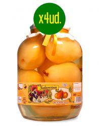 Peras en almíbar - Entero - Frasco de 2,650Kg. x 4 unidades - La Jalancina