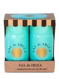 Salero, Sal de Ibiza con Pimienta de Camboya - 2 dispensadores - En caja decorativa
