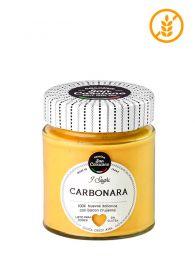Salsa Carbonara Italiana San Cassiano Gourmet en frasco de 140grs.
