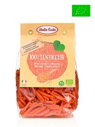 Strozzapreti de lentejas rojas - Pasta Italiana - Ecológico - 250grs - Dalla Costa
