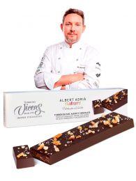 Turrón Albert Adrià de pan con chocolate y aceite de torrons vicens