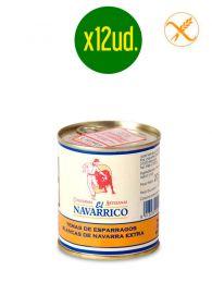 Yemas de Espárragos blancos de Navarra - Medianas - Lata de 1/3kg x 12ud. - El Navarrico