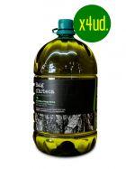 Pack Aceite de Oliva Virgen Extra de Arbequina - 4 x Garrafa 5l - Oli Raig d'Arbeca - Arbeca - Lleida