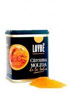 Cúrcuma de la India molido - Lata 90grs. - Laybé Premium